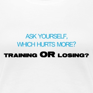 Which hurts more - Women's Premium T-Shirt