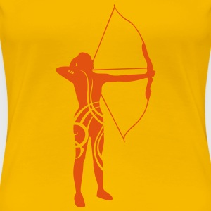 Archery tribal T-shirt - Frauen Premium T-Shirt
