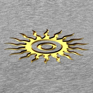 Sun symbol, digital, gold T-Shirts - Men's Premium T-Shirt