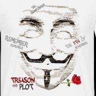 Motiv ~ V for Vendetta T-skjorte. Guy Fawkes maske.