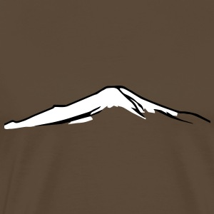 Mountain Mt. Fuji with Snow T-shirt Tshirt T-Shirts - Men's Premium T-Shirt