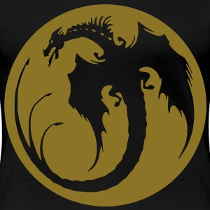 Dragon in flight print - Women's Premium T-Shirt