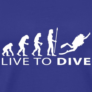 evolution_dive T-shirts - Herre premium T-shirt