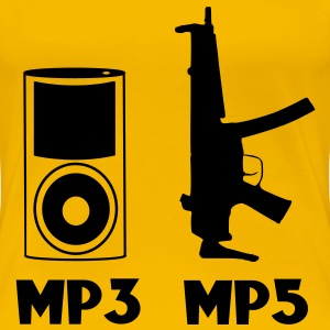 MP3 / MP5 Evolution Vektor Design T-Shirts - Frauen Premium T-Shirt