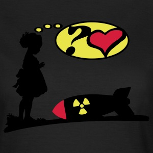 Are you lovely? Bomb Girl love comic / Atomic Bomb T-Shirts - Women's T-Shirt
