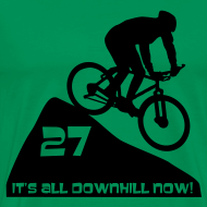 Design ~ It's all downhill now - birthday 27