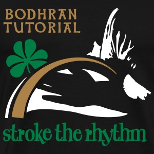 stroke the rhythm - Men's Premium T-Shirt