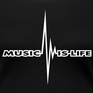 music_is_life_pulse T-shirt - Maglietta Premium da donna