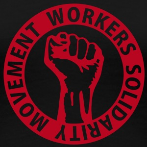 1 colors - Workers Solidarity Movement - Working Class Unity Against Capitalism T-shirts - Vrouwen Premium T-shirt