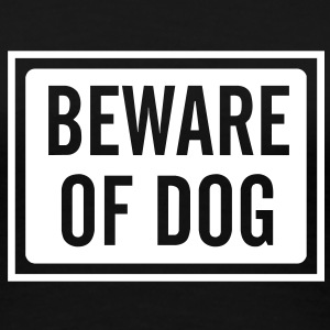 beware_of_dog_100 T-Shirts - Frauen Premium T-Shirt