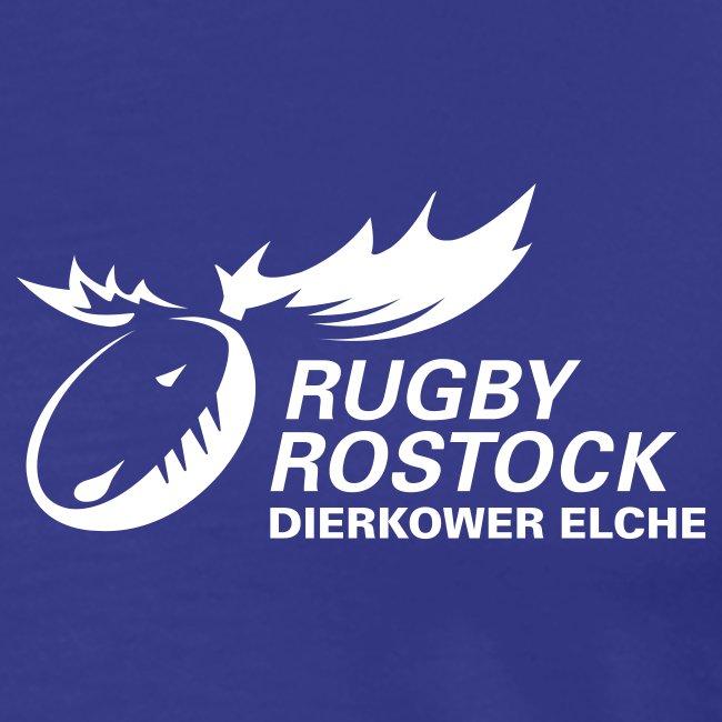 T-Shirt Elche-Logo (vorn); Schrift frei wählbar (rück)