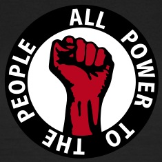 3 colors - all power to the people - against capitalism working class war revolution T-Shirts