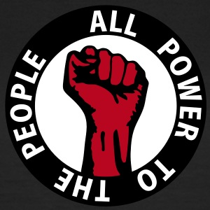 3 colors - all power to the people - against capitalism working class war revolution T-Shirts - Frauen T-Shirt