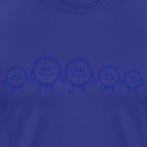 big_hairy_monster_family T-shirts - Herre premium T-shirt