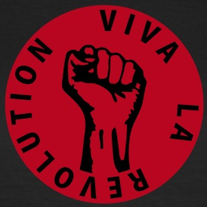2 colors - Viva la Revolution - Working Class Unity Against Capitalism T-shirts - Dame-T-shirt