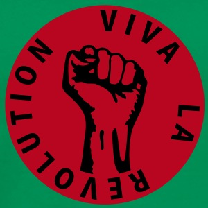 2 colors - Viva la Revolution - Working Class Unity Against Capitalism T-skjorter - Premium T-skjorte for menn