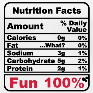 'Nutritional Facts' Damtopp - Premium-T-shirt dam