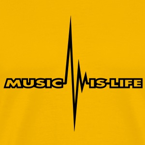 music_is_life_pulse T-shirt - Maglietta Premium da uomo