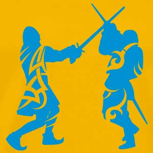 Sword fight tribal T-Shirts - Men's Premium T-Shirt
