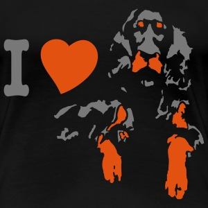 I love setter gordon - Women's Premium T-Shirt