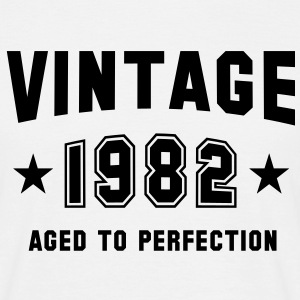 VINTAGE 1982 T-Shirt - Aged To Perfection BK - Männer T-Shirt