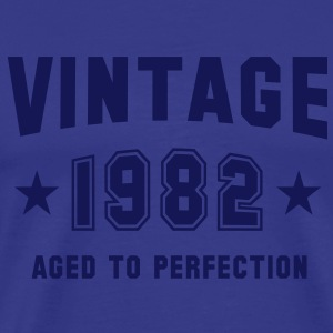VINTAGE 1982 T-Shirt - Aged To Perfection NS - Männer Premium T-Shirt