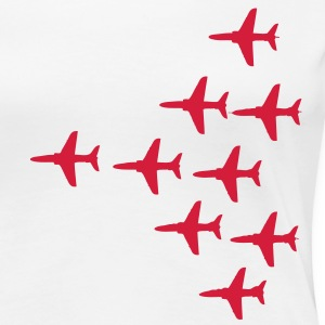 Red Arrows Vulcan 2007 Formation for Ladies - Women's Premium T-Shirt