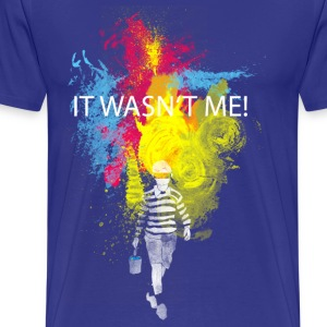 it wasn't me! T-shirts - Mannen Premium T-shirt