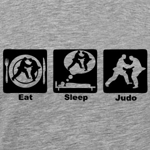 judo eat sleep play Tee shirts - T-shirt Premium Homme