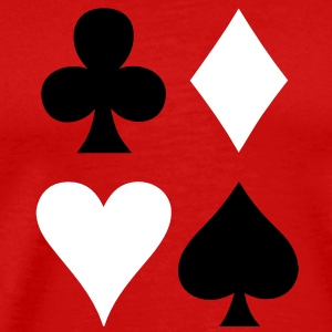 ALL FOUR poker cards card suits in a square T-Shirts - Men's Premium T-Shirt