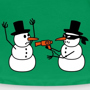 hair_dryer_snowman_robbing T-Shirts - Women's Premium T-Shirt