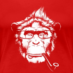 Ironic Chimp Shirt - Women's Premium T-Shirt