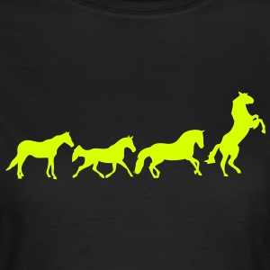 animation cheval chevaux horse3 Tee shirts - T-shirt Femme