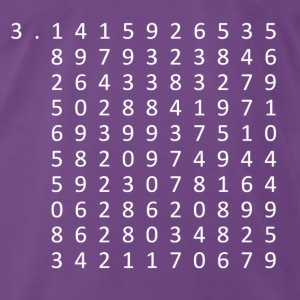 Pi to 100 Decimal Places T-Shirts - Men's Premium T-Shirt
