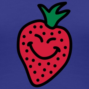 happy_strawberry_3c T-Shirts - Frauen Premium T-Shirt