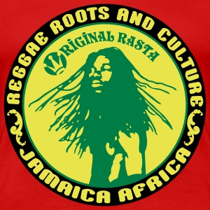 reggae roots and_culture jamaica africa T-Shirts - Women's Premium T-Shirt