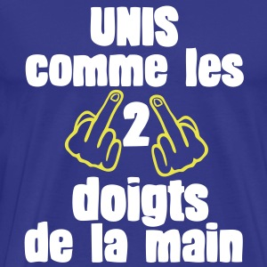 unis comme 5 non 2 doigts main fuck1 Tee shirts - T-shirt Premium Homme