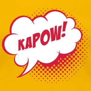 Speech balloon Kapow! T-Shirts - Frauen Premium T-Shirt