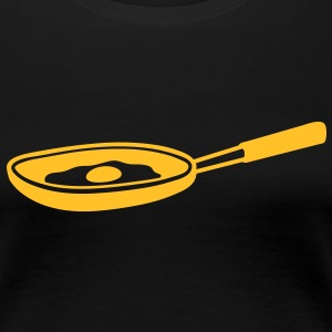 egg_in_pan T-Shirts - Frauen Premium T-Shirt
