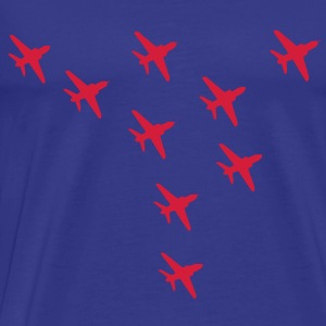 Red Arrows Eagle Formation - Men's Premium T-Shirt