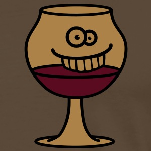 funny_wine_glass T-Shirts - Men's Premium T-Shirt