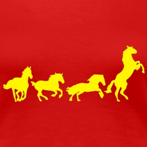 animation cheval chevaux horse5 Tee shirts - T-shirt Premium Femme