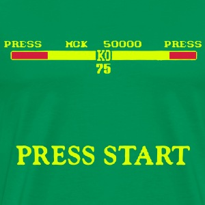 PRESS START & KO Score Gaming Graphics - Men's Premium T-Shirt
