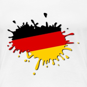 Deutschland Flagge Klecks T-Shirts - Frauen Premium T-Shirt