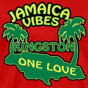 jamaica vibes kingston T-shirts - Herre premium T-shirt