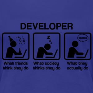 Developer - What my friends think I do Koszulki - Koszulka damska Premium
