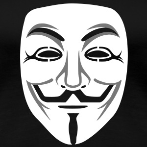 Annonymous/Guy Fawkes masker 2clr T-shirts - Vrouwen Premium T-shirt
