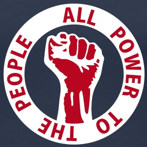 2 colors - all power to the people - against capitalism working class war revolution T-shirts - Vrouwen Premium T-shirt