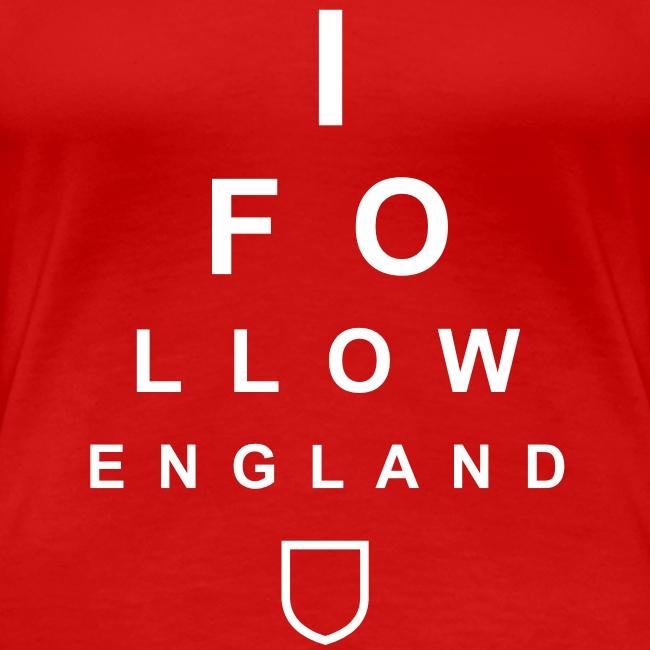 I Follow England - Eye Test (White - Women's)