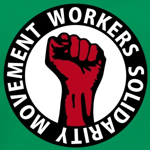 3 colors - Workers Solidarity Movement - Working Class Unity Against Capitalism T-Shirts - Men's Premium T-Shirt
